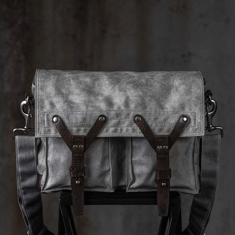 [WOTANCRAFT] SCOUT SHOULDER BAG - Vintage grey