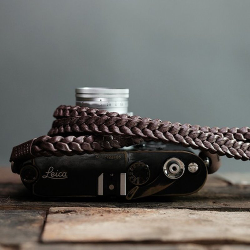 [Barton1972] Leather Neck Strap Braided- Natural