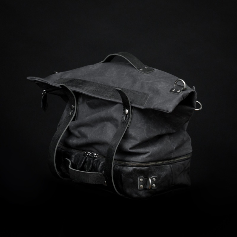 [WOTANCRAFT] SPACEJUMPER CONVERTIBLE BAG - Charcoal black