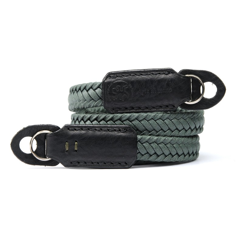 [JnK] Waxed Cotton Neck Strap Green - Minerva/Black