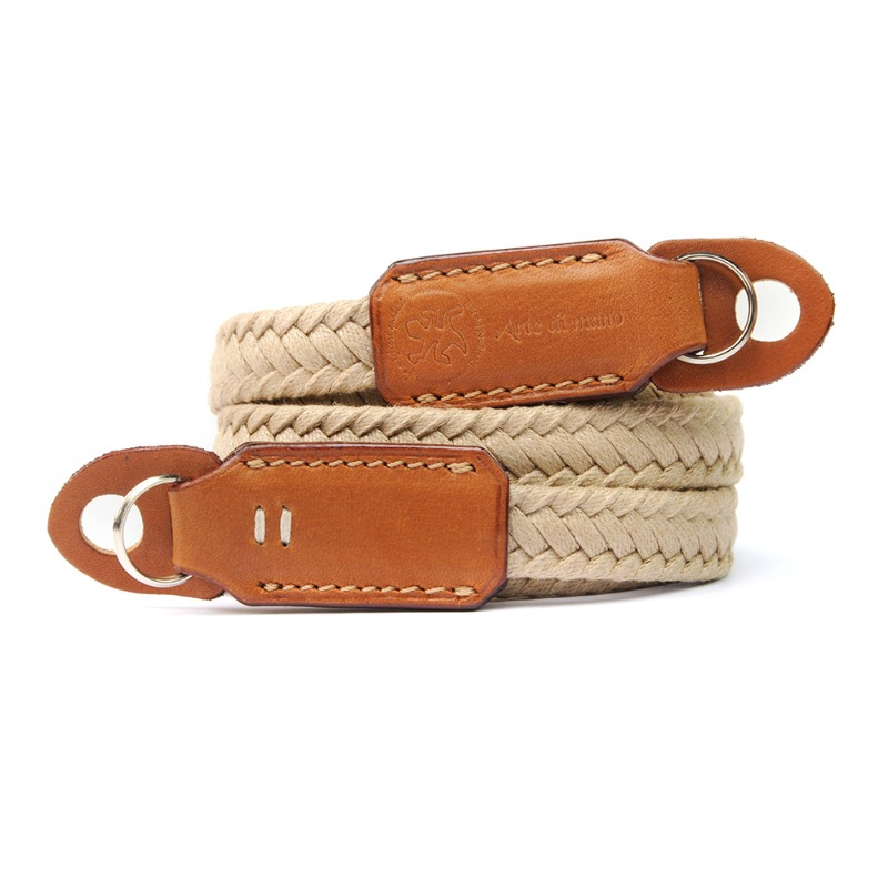 [JnK] Waxed Cotton Neck Strap Beige - Barenia/Tan
