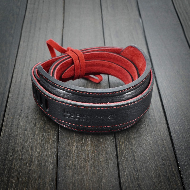 [루이지] Neck Strap Genius (with Pad) Black&Red