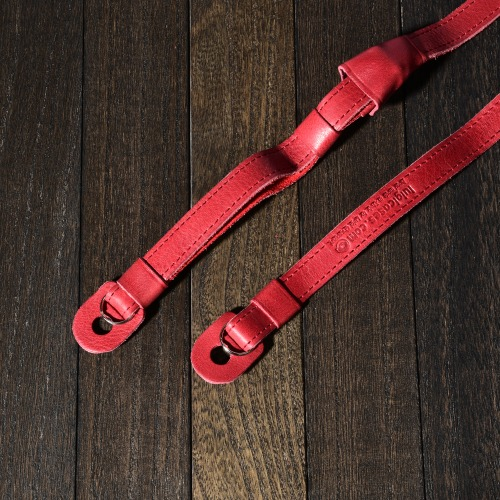 [루이지] Leather Neck Strap (with Pad) Cherry