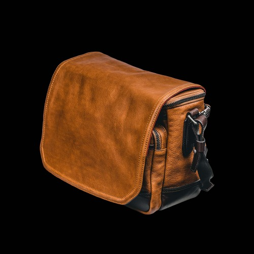 [WOTANCRAFT] Ryker Full Leather Camera Bag Brown/Coffee Brown - M