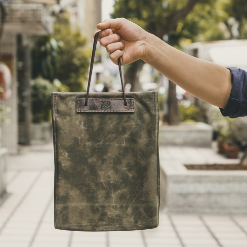 [WOTANCRAFT] Foldable Shopping Bag 5L - Olive Green