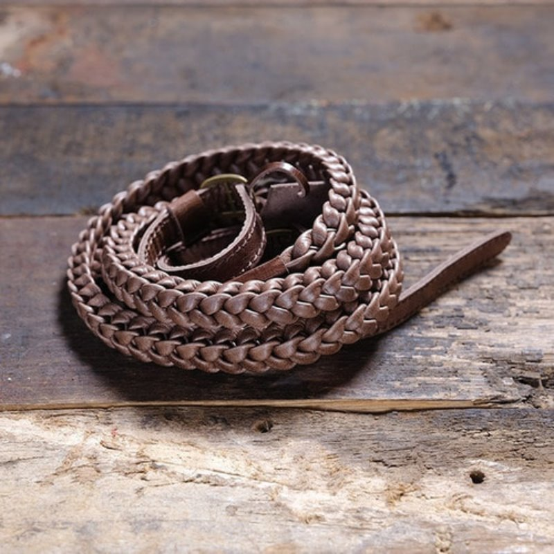 [Barton1972] Leather Neck Strap Braided Prime - Natural